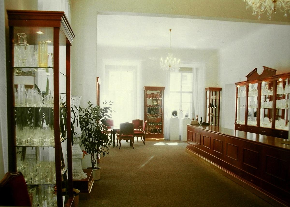 Prodejna skla Praha1 - rekonstrukce památkového objektu